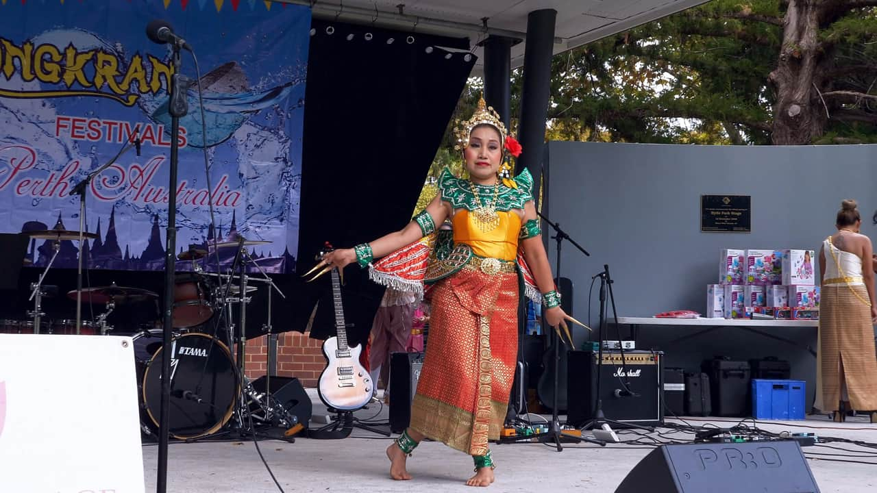 Traditional Thai Dance Songkran Hyde Park Perth Australia